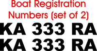 Custom Boat / PWC Registration Number Decals / Stickers