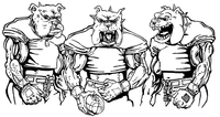 Football Bulldog Mascot Decal / Sticker 11