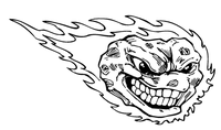 Comets Mascot Decal / Sticker 4