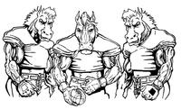 Football Horse Mascot Decal / Sticker 10
