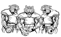 Football Leopards Mascot Decal / Sticker 9 ^This white rectangle is NOT part of the decal^