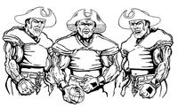 Football Patriots Mascot Decal / Sticker 3
