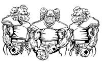 Football Rams Mascot Decal / Sticker 6