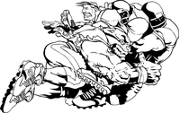 Football Bulldog Mascot Decal / Sticker