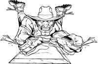 Baseball Cowboys Mascot Decal / Sticker Sliding into Base