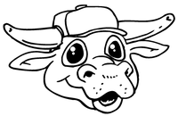 Bull Mascot Decal / Sticker 1