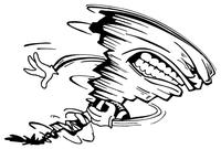 Storm Mascot Decal / Sticker 2