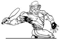 Baseball Buffalo Mascot Decal / Sticker ba8