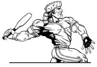 Baseball Frontiersman Mascot Decal / Sticker 7