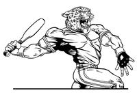Baseball Leopards Mascot Decal / Sticker 6
