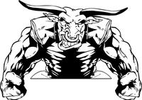 Bull Mascot Decal / Sticker