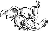Elephants Mascot Decal / Sticker 5
