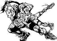 Wrestling Horse Mascot Decal / Sticker