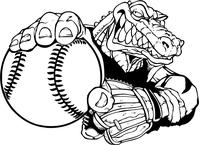 Baseball Gators Mascot Decal / Sticker