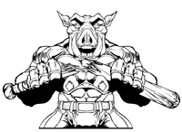 Razorbacks Baseball Mascot Decal / Sticker
