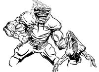 Football Comets Mascot Decal / Sticker 04