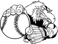 Baseball Eagles Mascot Decal / Sticker