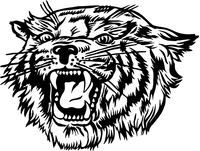 Bobcat Head Mascot Decal / Sticker