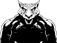 Wrestling Jaguars Mascot Decal / Sticker