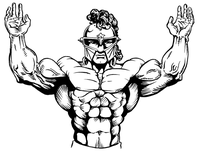 Weightlifting Paladins / Warriors Mascot Decal / Sticker 1