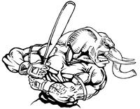 Baseball Elephants Mascot Decal / Sticker 7