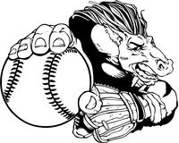 Baseball Horse Mascot Decal / Sticker
