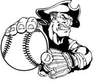 Patriots Baseball Mascot Decal / Sticker