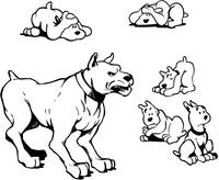 Dog Mascot Decal / Sticker