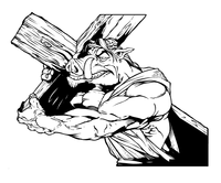 Razorback Carrying a Cross Decal / Sticker