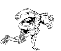 Track and Field Horse Mascot Decal / Sticker 1