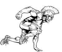 Track and Field Paladins / Warriors Mascot Decal / Sticker 1