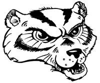 Wolverines / Badgers Mascot Decal / Sticker 4