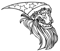 Wizards Mascot Decal / Sticker