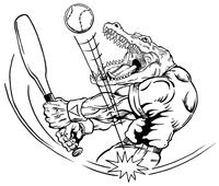 Baseball Gators Mascot Decal / Sticker 3
