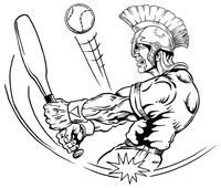 Baseball Paladins / Warriors Mascot Decal / Sticker 1