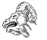 Rams Mascot Decal / Sticker 4