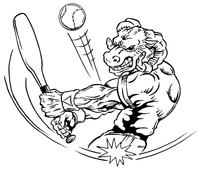 Baseball Rams Mascot Decal / Sticker 1