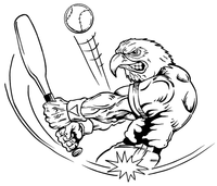 Baseball Eagles Mascot Decal / Sticker 3