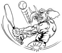 Baseball Elephants Mascot Decal / Sticker 3