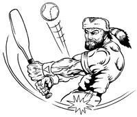 Baseball Frontiersman Mascot Decal / Sticker 3