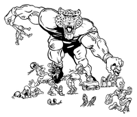 Football Leopards Mascot Decal / Sticker 8