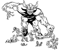Football Devils Mascot Decal / Sticker 07