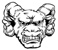 Rams Mascot Decal / Sticker 8
