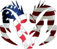 American Flag Ram 03 Decal / Sticker