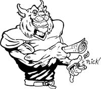Bobcat Mascot Decal / Sticker with Lighter
