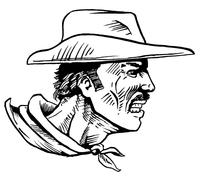 Cowboys Mascot Decal / Sticker 3