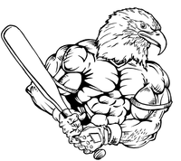Baseball Eagles Mascot Decal / Sticker 4