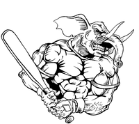 Baseball Elephants Mascot Decal / Sticker 4