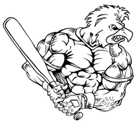 Baseball Gamecocks Mascot Decal / Sticker 5