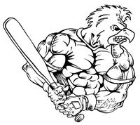 Baseball Gamecocks Mascot Decal / Sticker 5